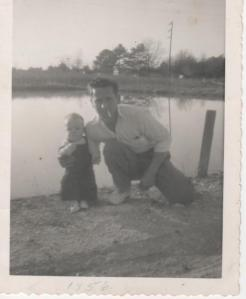 Dad and me - 1956
