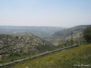 The green hills of Umm Qais