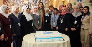 Her Majesty Queen Rania Al Abdullah paid a visit to the SOS Children's Village Amman, where she celebrated mother's day with children and their caregivers in the village.