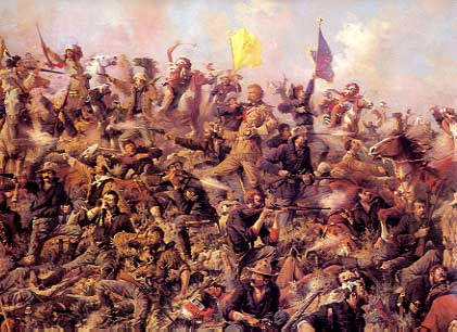 Popular depiction of 'Custer's Last Stand'