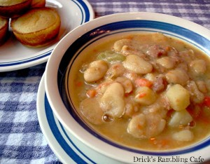 white lima bean soup