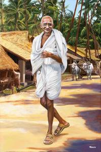 mahatma-gandhi-natural-painting