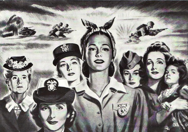Women WW2 envisioning the american dream